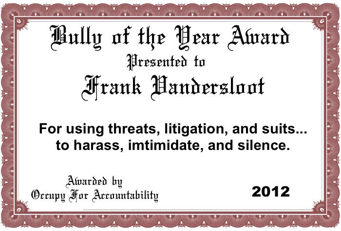 Vandersloot Award